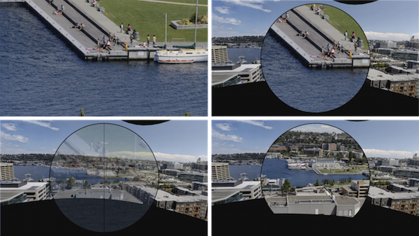 Panning and Zooming High-Resolution Panoramas in Virtual